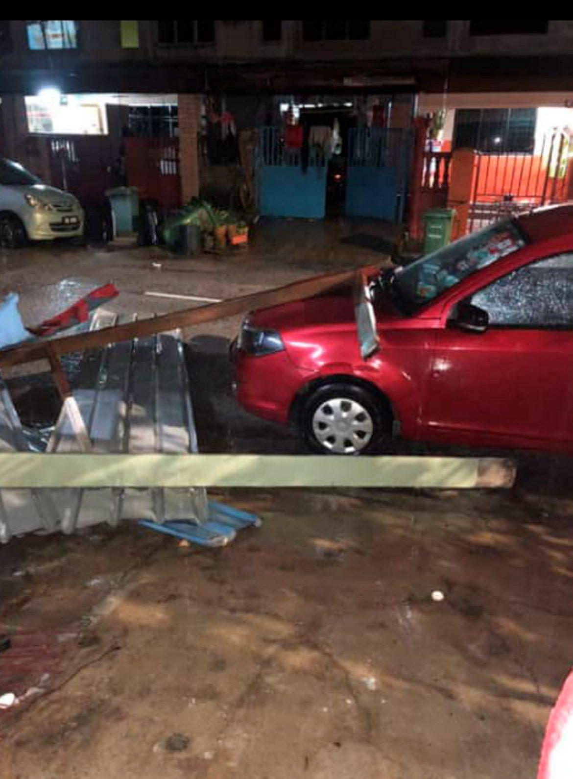 75 bumbung rumah rosak akibat ribut