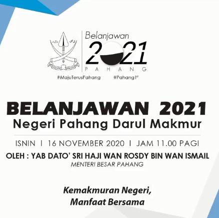 CORETAN – BELANJAWAN NEGERI 2021