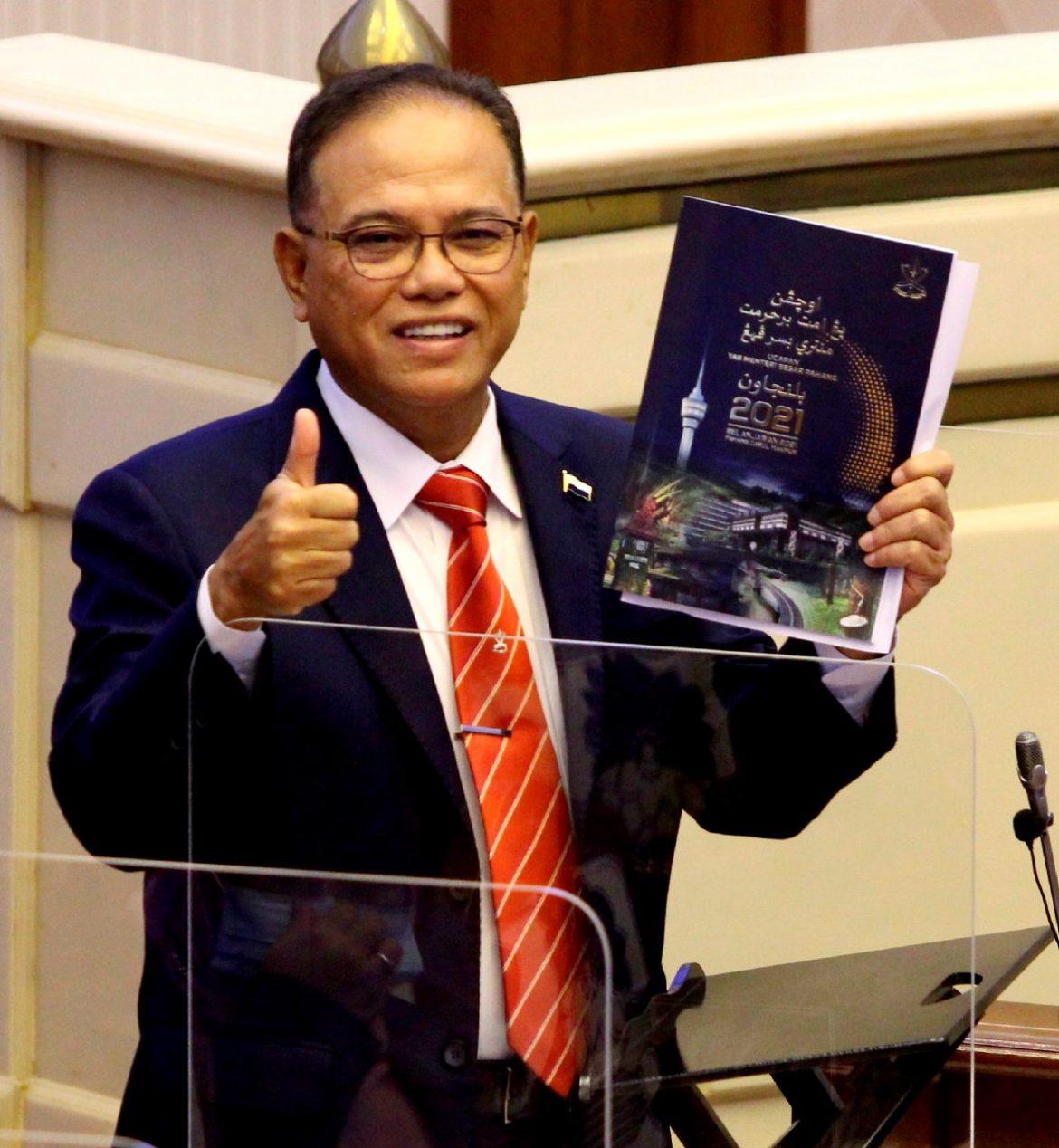 Belanjawan Pahang 2021 fokus kemakmuran rakyat