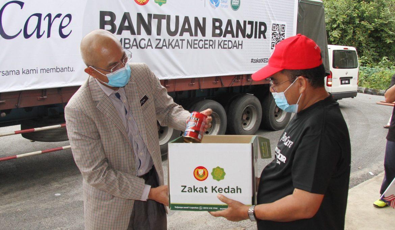 Lembaga Zakat Kedah sumbang 90 tan beras kepada mangsa banjir di Pahang