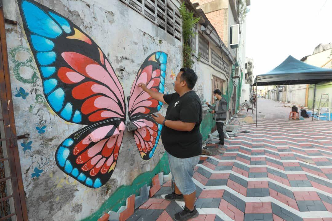 Cantiknya mural baru di pusat bandar Kuantan
