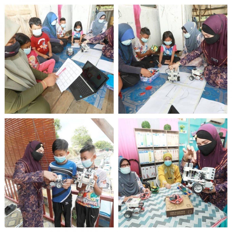 Kreativiti guru SK Kampung Acheh mengajar PdPR guna robot pintar