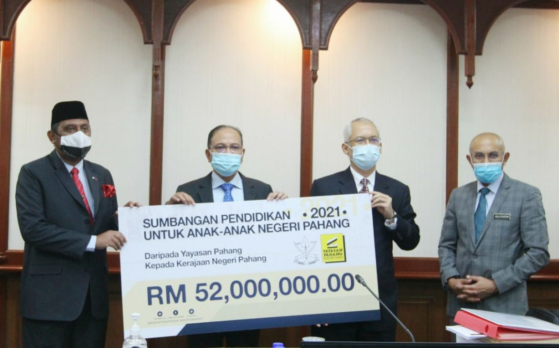 Yayasan Pahang sediakan RM52 juta untuk biayai pengajian 61,721 anak Pahang