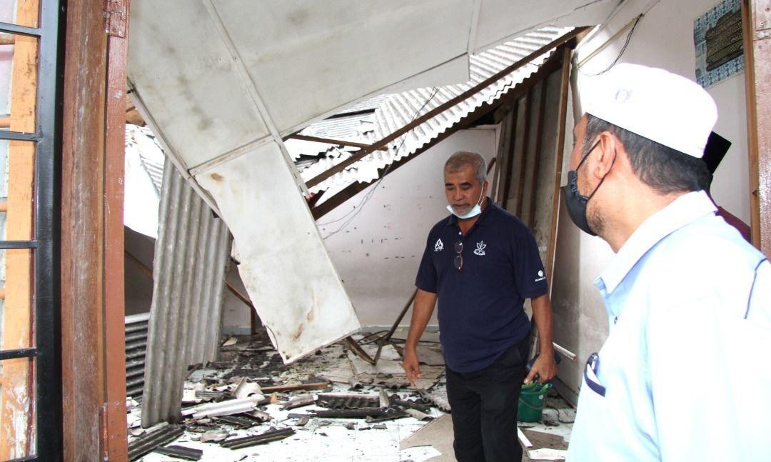 Ribut: Bumbung Sekolah Agama Rakyat Al-Wusto yang rosak diganti segera