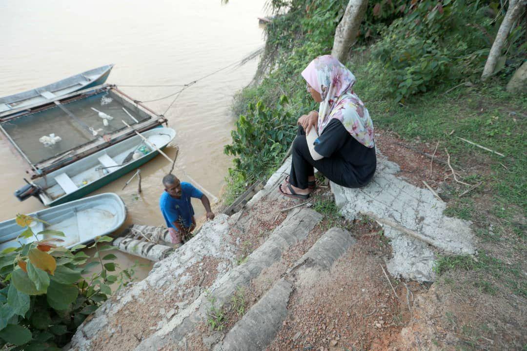 Penduduk bimbang tebing Sungai Pahang semakin dekat dengan rumah