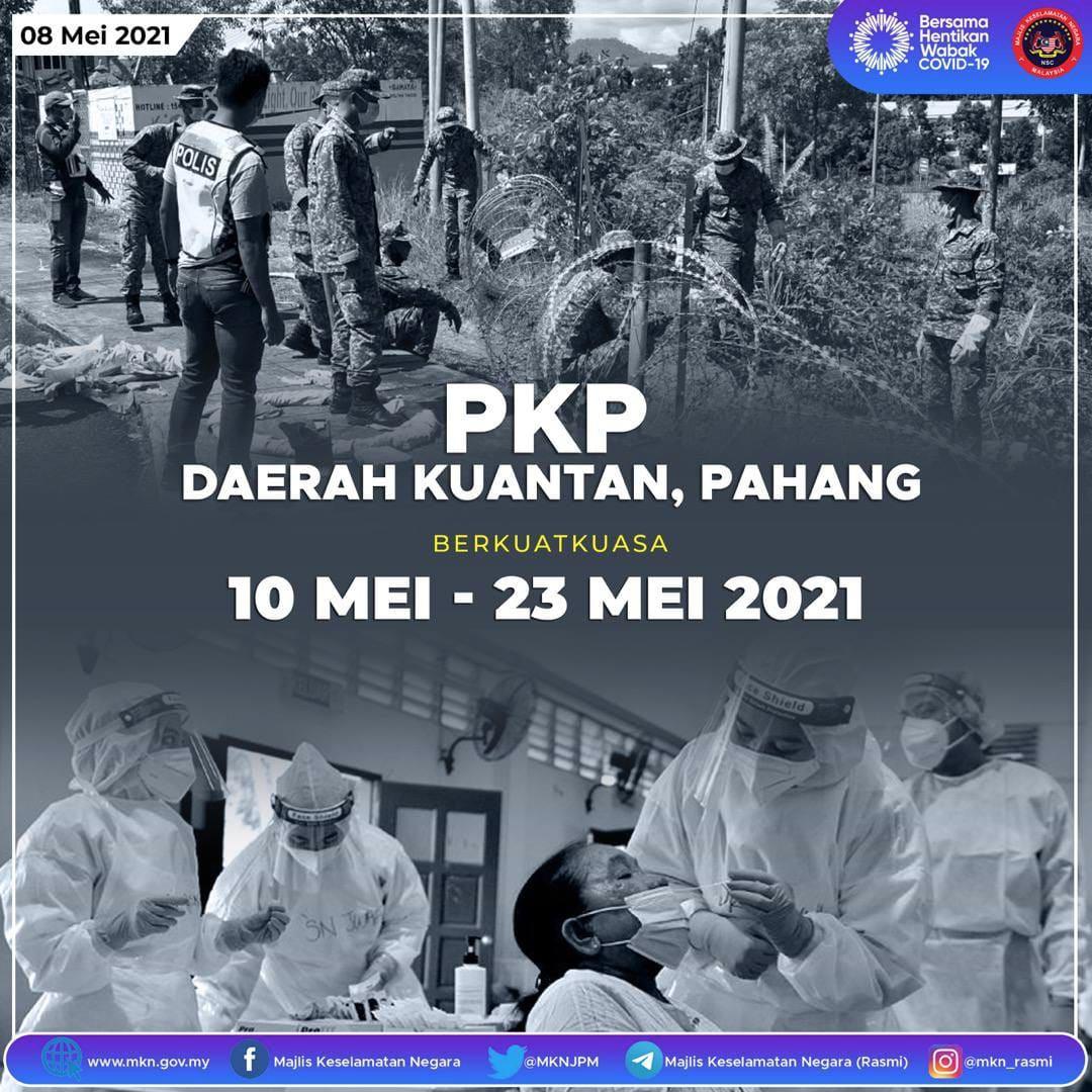 Lebaran bakal suram berikutan PKP di daerah Kuantan mulai 10 hingga 23 Mei