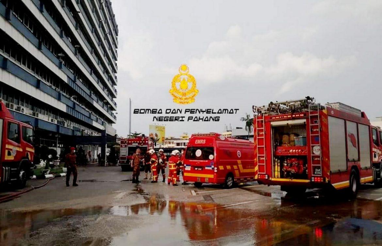 Bilik fail IPK Pahang terbakar
