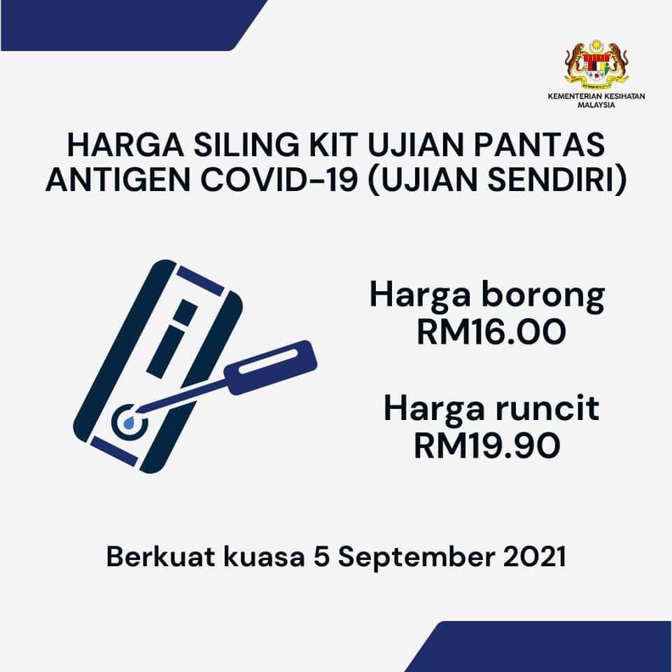 Kit ujian kendiri COVID-19 RM19.90